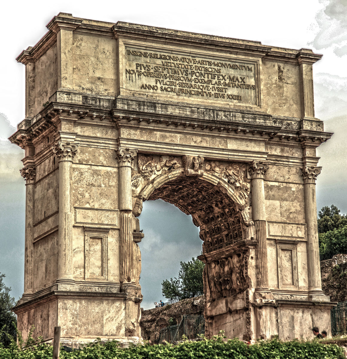 the arch of titus propaganda The arch, inaugurated in ad 81, has two interior reliefs that commemorate the roman victory over judea by titus, a military commander and future emperor, and his father, the emperor vespasian, a.